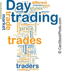 Day trading wordcloud - Word cloud tags concept illustration...
