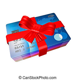 wrapped up credit cards as a gift