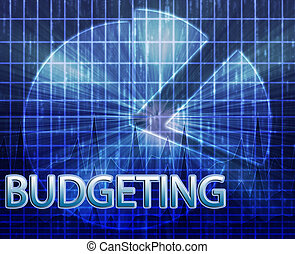 Financial budgeting illustration - Illustration of financial...
