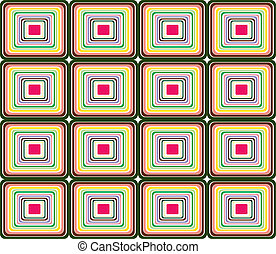 Seamless Retro pattern - vector - Retro seamless pattern in...