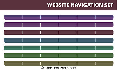 Website navigation set - Vector - A website navigation set,...