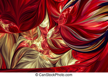 Computer generated fractal artwork for creative design and...
