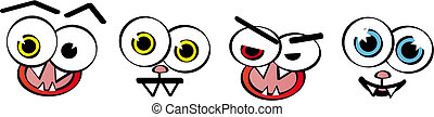 Set of emotion faces - vector