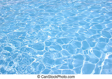 Water pool - Rippling water in a pool. Bright blue water...