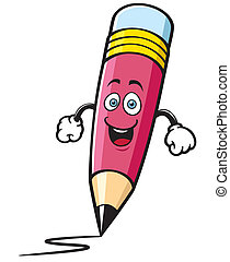 Pencil - Vector illustration of Cartoon pencil