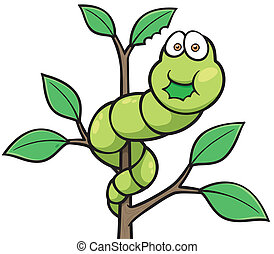 Worm - Vector illustration of Cartoon worm
