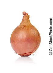 Whole Onion - A Whole onion isolated on a white background