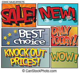 Comic sales effects