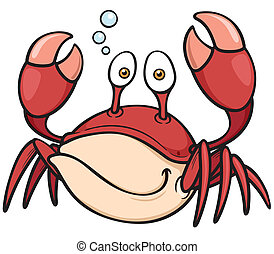 Crab - Vector illustration of Cartoon crab