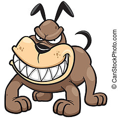 Angry Dog - Vector illustration of Angry Dog