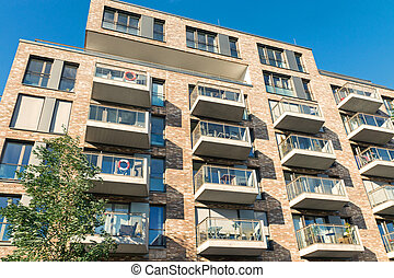 New apartment house in Hamburg - A new apartment house in...
