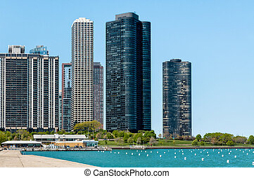 Harbor Point Condominiums on Lake Michigan, Chicago