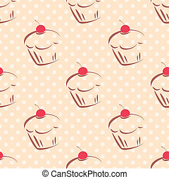 Tile cake dots vector background