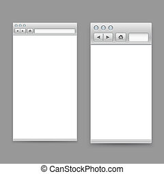 Opened browser windows template. Past your content into it