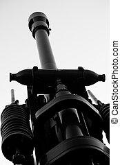 Howitzer artillery detail - Anti-aircraft artillery type...