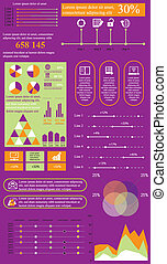 salad violet info - Vector illustration of flat infographics...