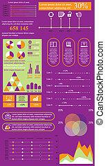 salad violet info - Vector illustration of flat infographics...
