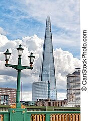 Shard building from Southwark Bridge - view Shard building...