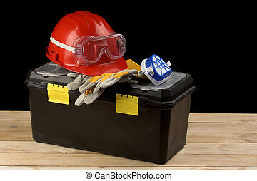 säkerhet, drev, utrustning