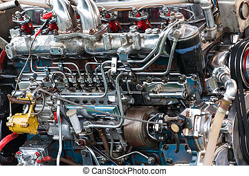 Longtail boat engine - Thai traditional longtail boat big...