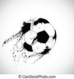Grunge soccer ball. This is file of EPS10 format.