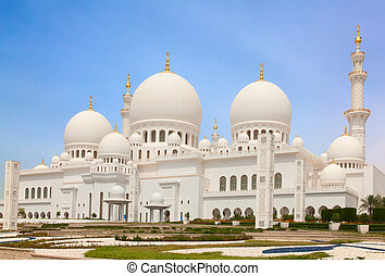 Sheikh Zayed mosque - Famous Sheikh Zayed mosque in Abu...
