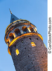 Galata Tower in Istanbul, Turkey