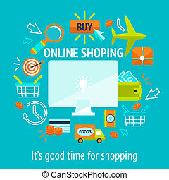 Online shopping concept - Online internet shopping concept...