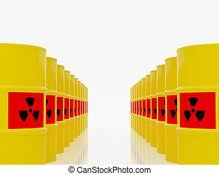 Radioactive waste - High resolution image barrel. 3d...