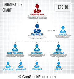Organizational chart infographic business hierarchy boss to...