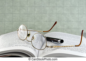 Eyeglasses with pen