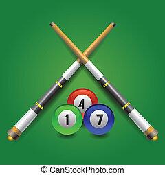 billiard icon - colorful illustration with billiard icon on...