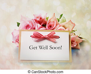 Get Well Soon Greeting Card - Hand-made Get Well Soon...