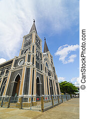 Catholic church at Chantaburi province, Thailand.