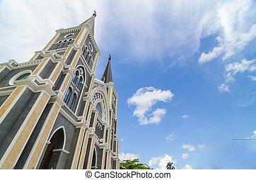Catholic church at Chantaburi province, Thailand.