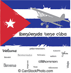 Welcome to Cuna - Background welcome to cuba