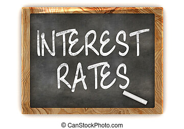 Interest Rates Blackboard - A Colourful 3d Render Interest...