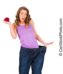 Unbelievable, I lost weight so fast. - Woman surprised of...