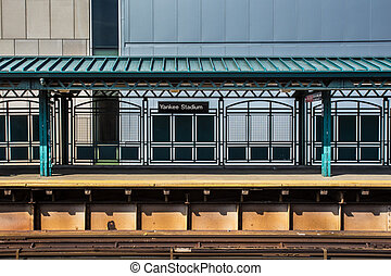 Yankee Stadium Train - Train platform at Yankee Stadium...