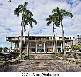 Hawaii State Capital Building. - Hawaii State Capital...