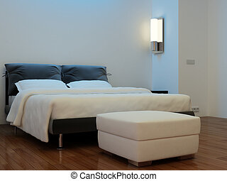 Bedroom with the fixture - High resolution image interior. A...