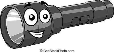 Cartoon torch with a happy smile