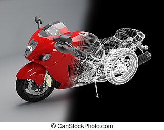 high-tech red bike