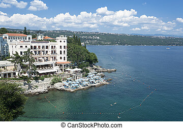 Adriatic Sea scenic view, Croatia - OPATIJA, CROATIA- July...