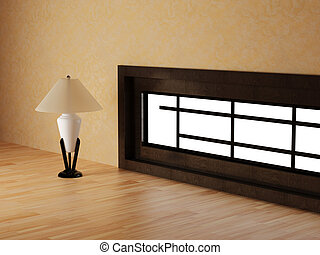 lamp in a room