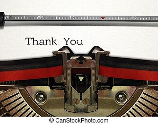 Thank You on Retro Typewriter
