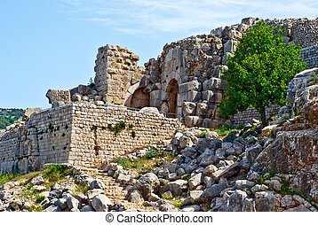 Nimrod - Ruined ancient Nimrod fortress on the Golan...