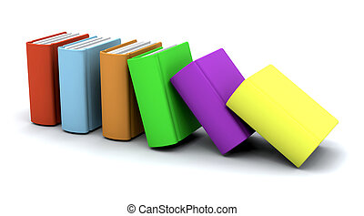 Stack of books - 3d charicature render of a stack of books...