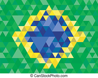 Geometric of Brazil flag
