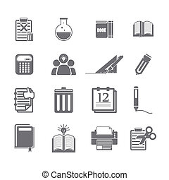 tools learning  icon set
